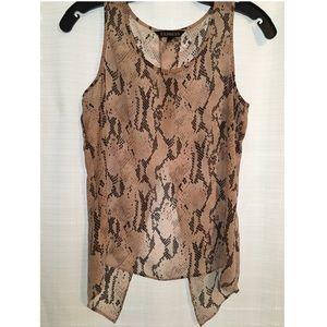 Express XS snake skin print blouse